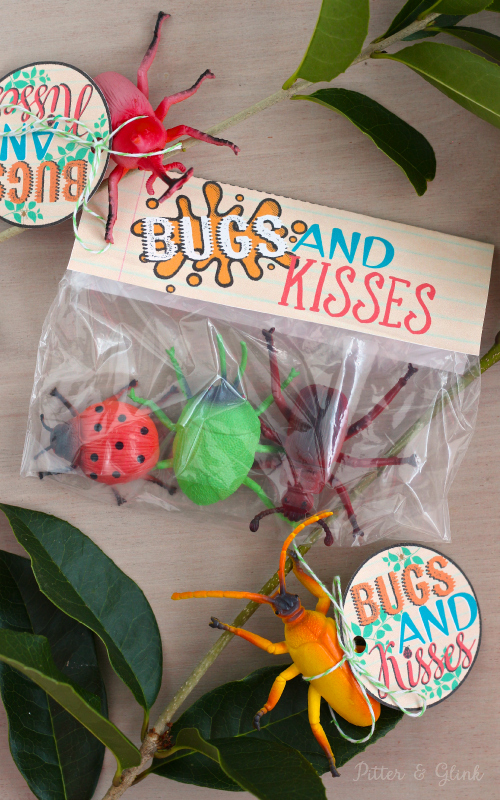 Bugs & Kisses Valentine Printable Title