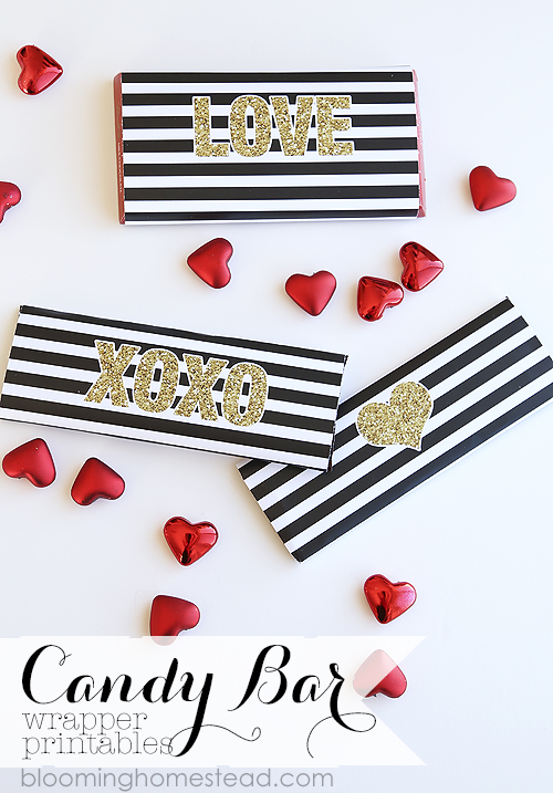 Candy Bar Valentines Printable by Blooming Homestead