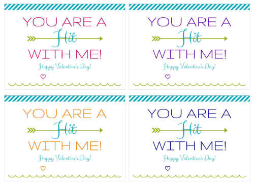 You Are a Hit with Me Valentine | Just a Girl and Her Blog for Skip to My Lou