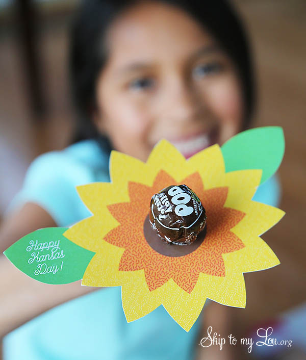 Kansas Day Sunflower Printable