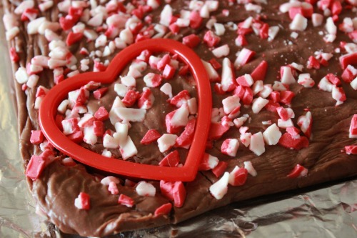 Peppermint-Fudge heart
