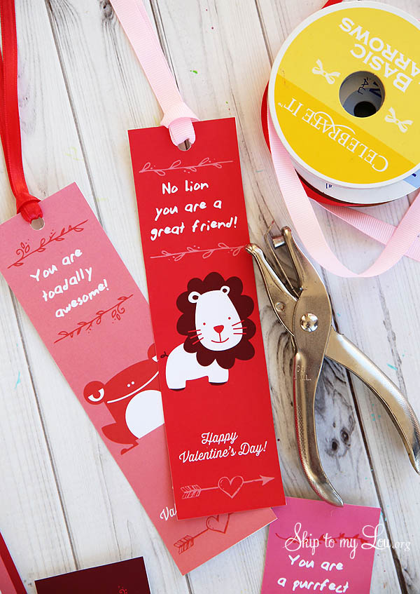 Valentine Bookmarks with ribbon