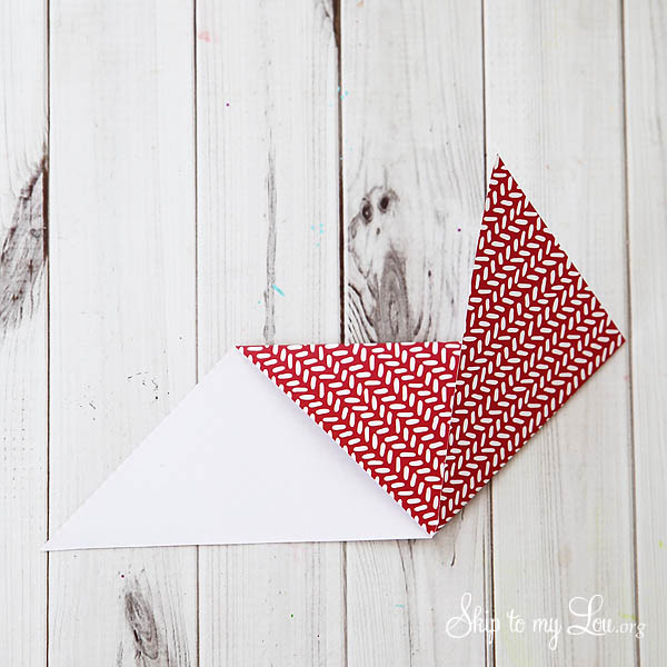 heart origami step 3