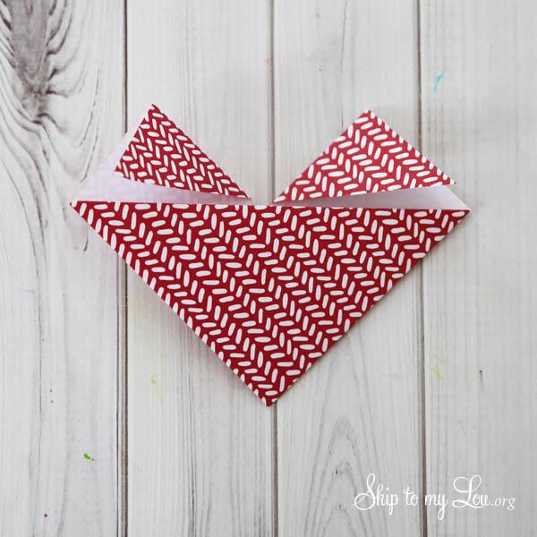 heart origami step 6