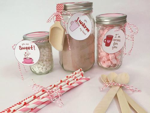 Hot Cocoa Mason Jars Valentine