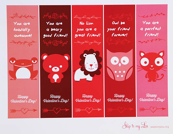 Valentine Printable Bookmarks | Skip To My Lou