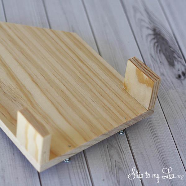wooden birdfeeder place sides