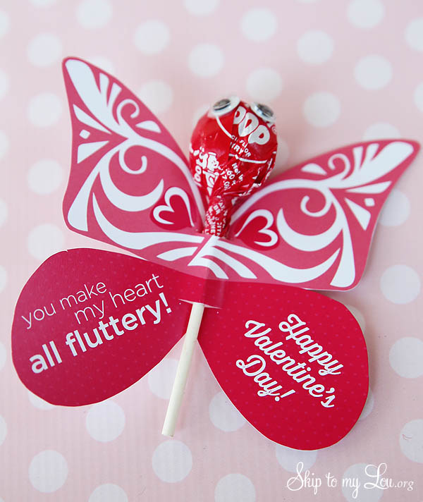 You Make My Heart Flutter Butterfly Valentine