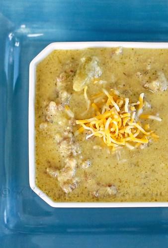Chunky Broccoli Cheddar Soup : Easy Family Dinner Ideas