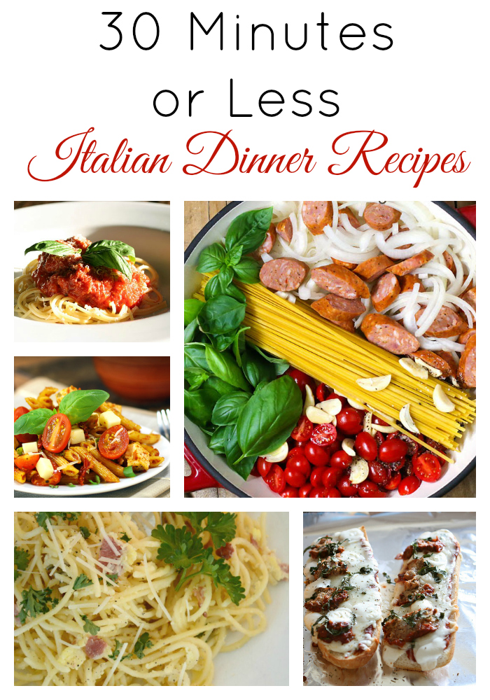 30 minutes or less italian dinner recipes skip to my lou 30 minute meal recipes forumfinder Gallery