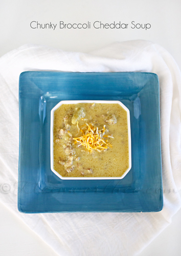 Chunky Broccoli Cheddar Soup by kleinworthco.com