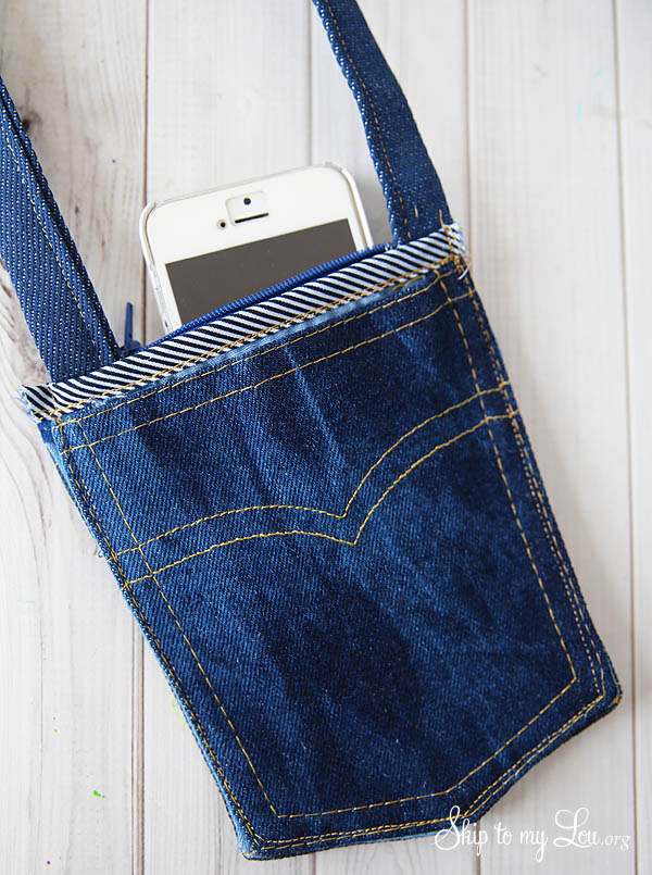 Diy Denim Cross Body Bag Skip To My Lou