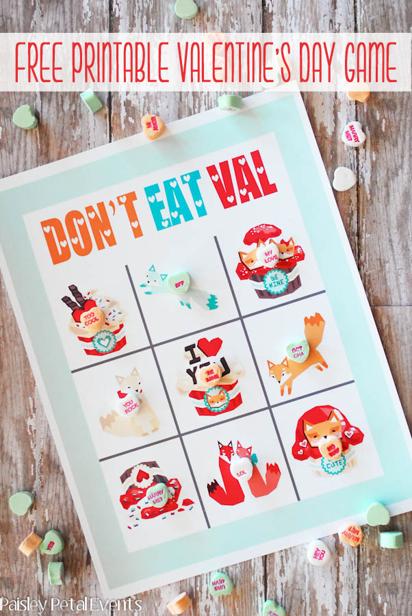 Valentine's Day game for kids - Don't Eat Val