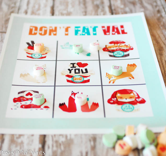 Everyone will have a blast with this free printable Valentine's Day game for kids - Don't Eat Val
