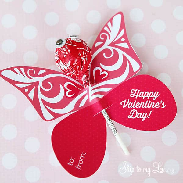 Butterfly Printable Valentine