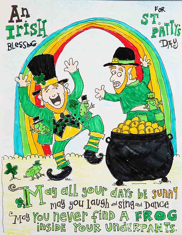 St Patrick S Day Coloring Page Skip To My Lou
