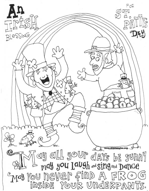St Patricks Day Coloring Page Skip To My Lou