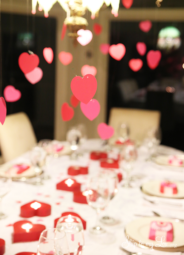 Valentine party decorations skip to my lou for Valentines dinner party ideas