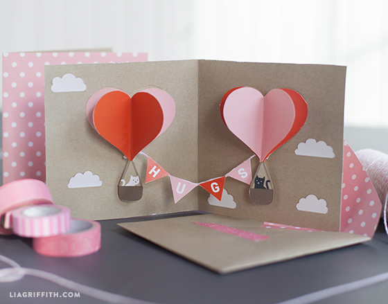 DIY popup Valentines card – Pop Up Valentines Day Card