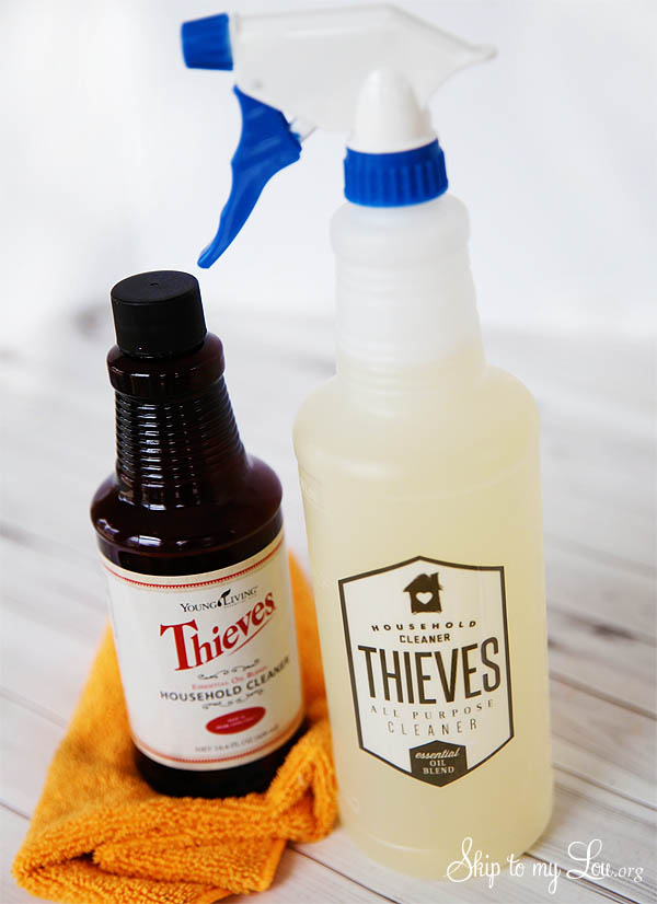 thieves cleaner in bottle with free labels