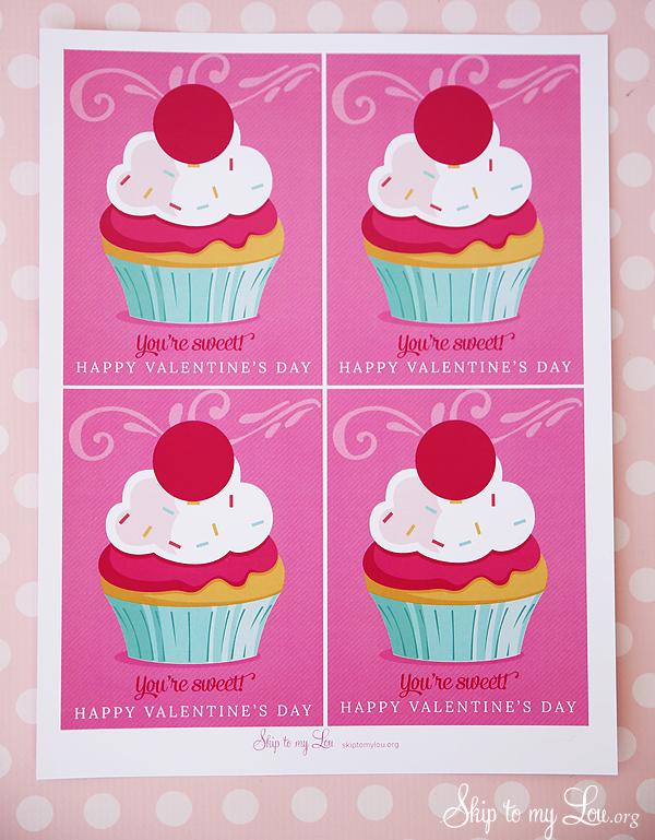 free printable valentine cupcake EOS Lip balm