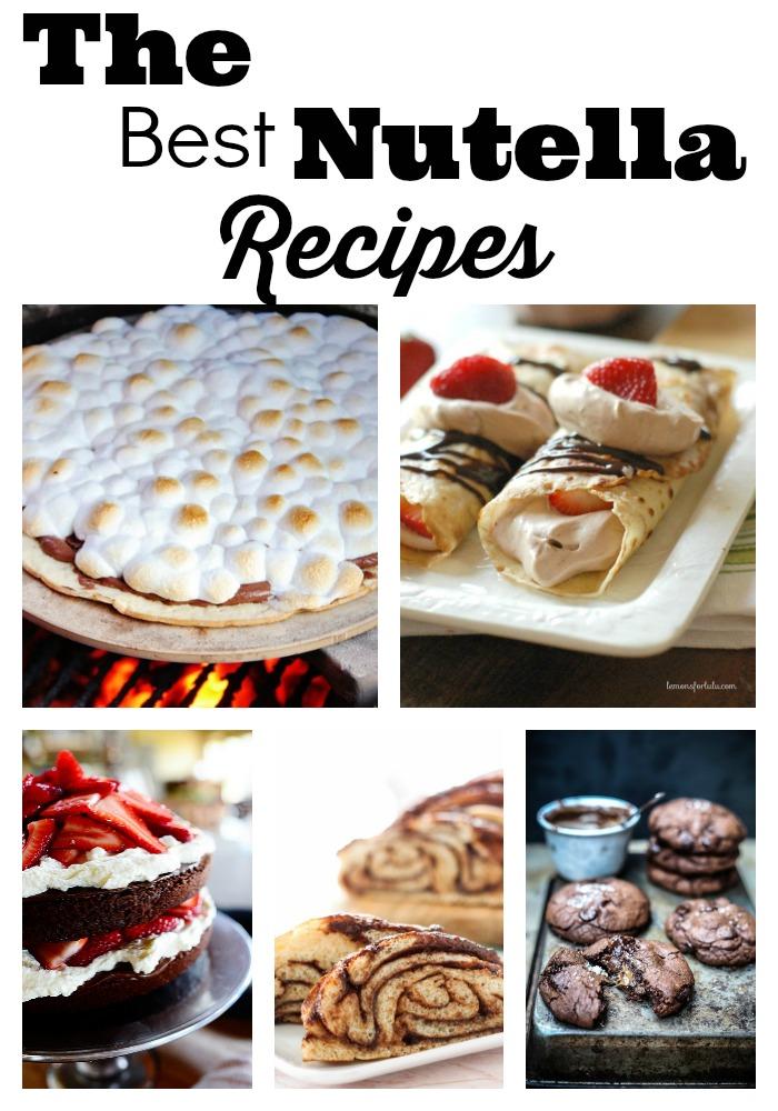 nutella recipe collage