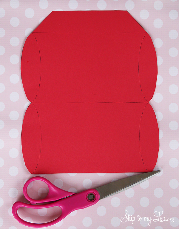 pillow box party favor template