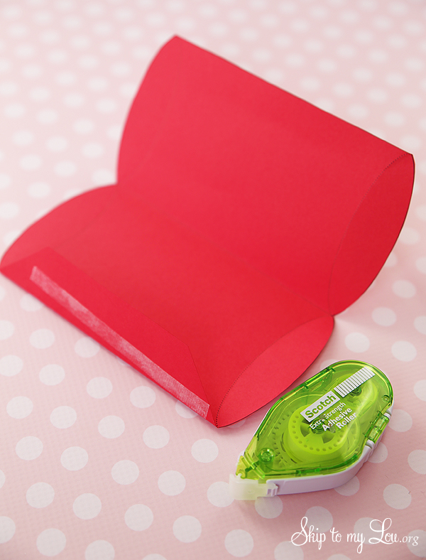 pillow box step 1