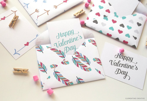 printable valentine mini envelopes and cards