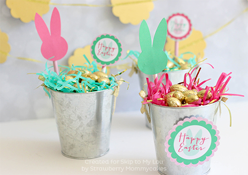 Cute Easter Buckets with FREE Printables