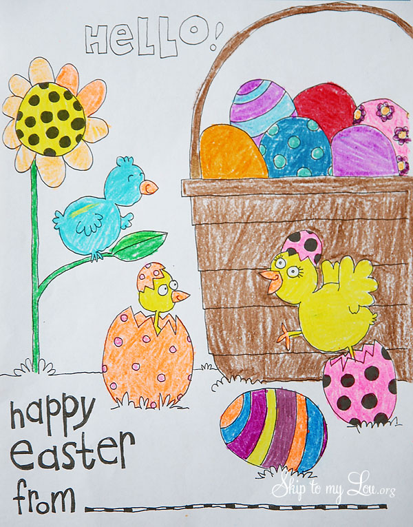 Easter Coloring Page Skip To My Lou