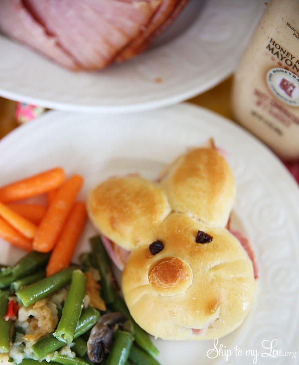 Honey Baked Ham Bunny Sandwiches
