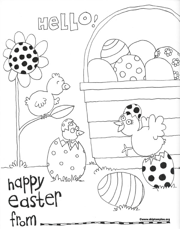 Colouring Pages Print : Easter coloring page {free printable} skip to my lou