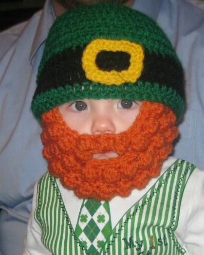 Crochet beard and hat