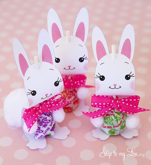 bunny sucker holder Easter Craft