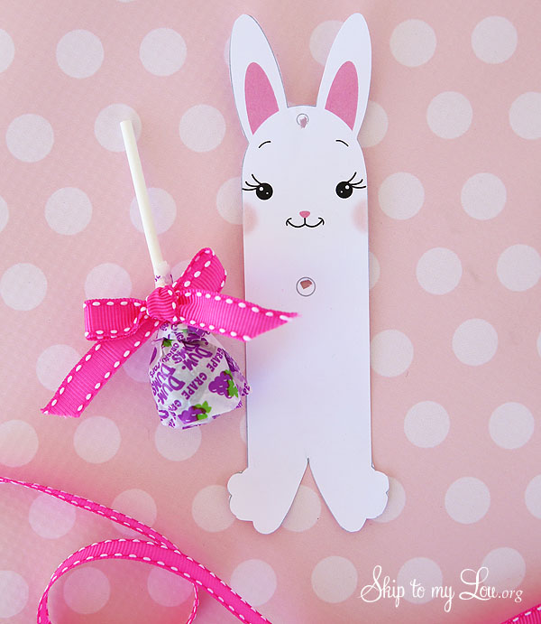 bunny sucker holder cut out