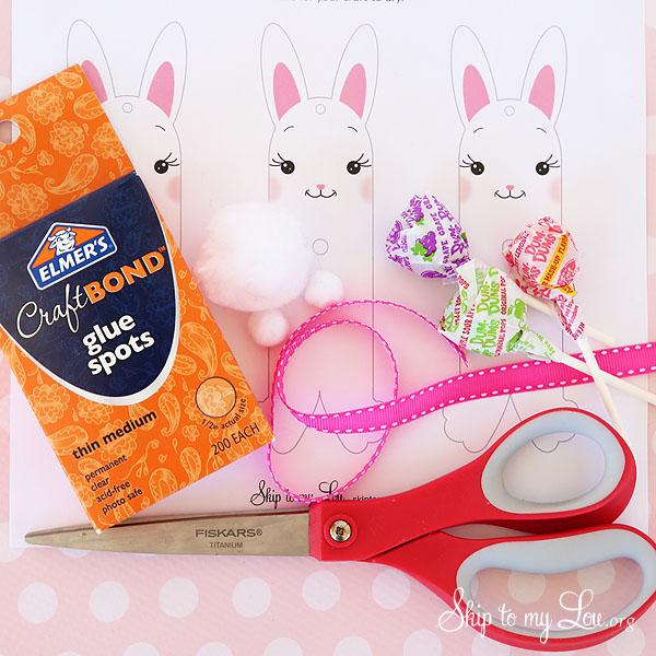 bunny sucker holder supplies