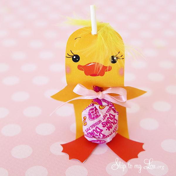 chick sucker holder Easter Craft