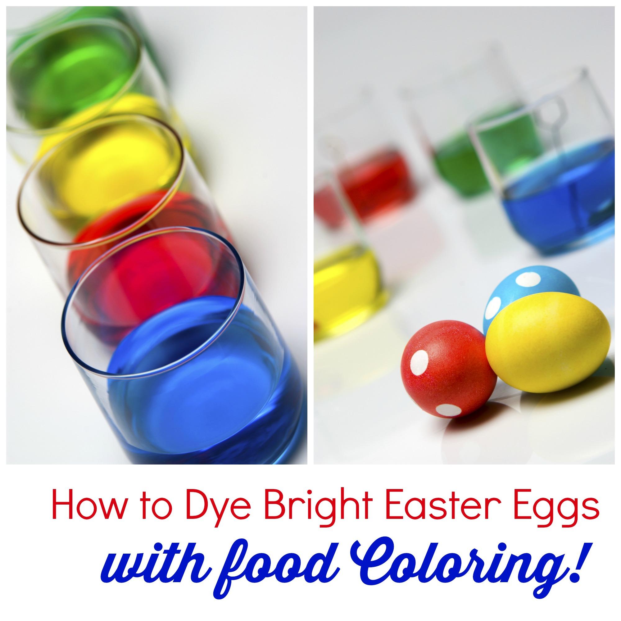 easter egg dye collage