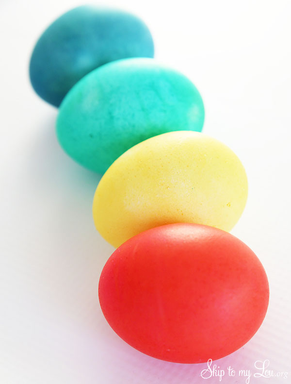 brightly colored eggs