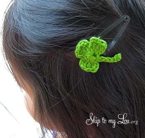 shamrock hair clip