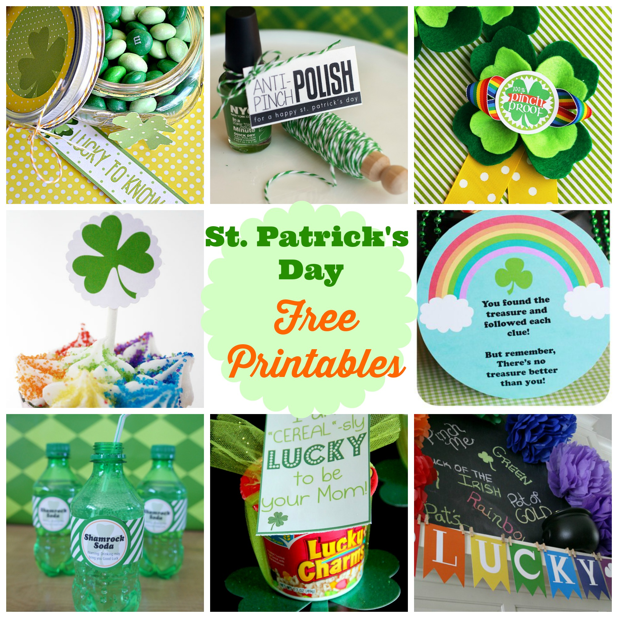 st patrick's day free printables