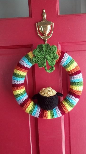 st patty's wreath crochet