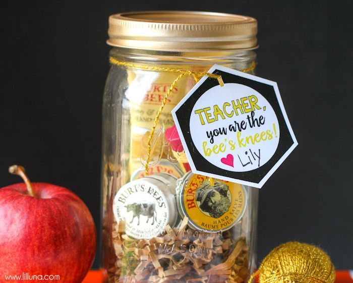 CUTE Bee's Knees Teacher Gift - free tags!