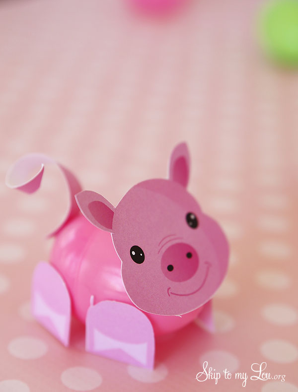 Easter Egg Pig Craft