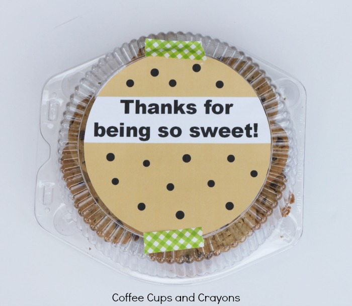 Free Printable Tag for Teacher Cookie Gift
