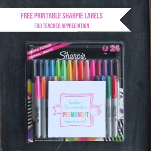Printable Teacher Appreciation Sharpie Labels Skip To My Lou