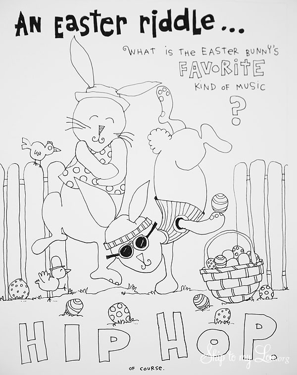 The CUTEST free Easter Coloring Pages | Skip To My Lou
