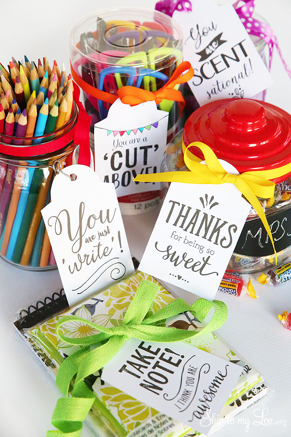picture about Free Printable Teacher Appreciation Tags named Printable Trainer Appreciation Reward Tags Miss out on Toward My Lou