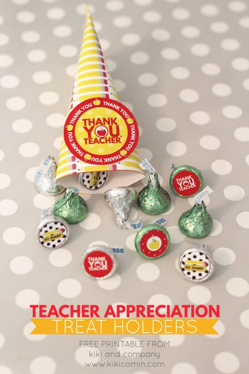 Teacher Appreciation Treat Holders from kiki and company. CUTE!